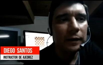 Diego Santos brindó noticias del ajedrez local