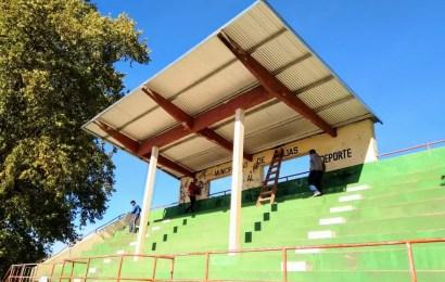 Reacondicionan la tribuna del Parque General Alvear