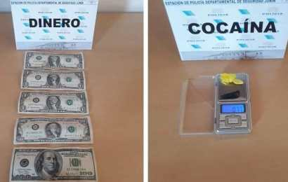 Dos rojenses aprehendidos con dólares falsos y cocaína