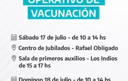 COVID: Vacunarán en Rafael Obligado y Carabelas