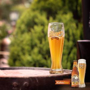 Fotografia vaso con cerveza Hefe Weizen