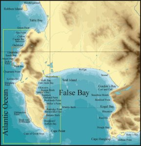 Flase Bay Map Cape Town