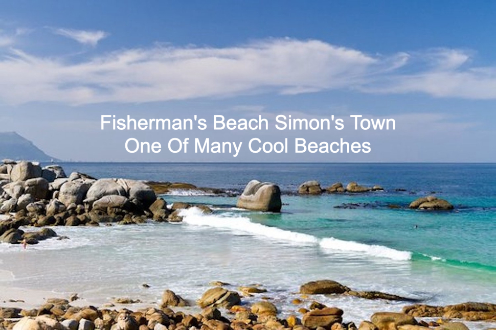 Fishermans Beach Simonstown things to do. With waves. Body surf. Cool.