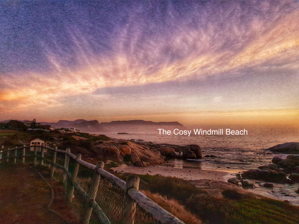 A really cool beach cosy things to do in Simonstown Windmill beach