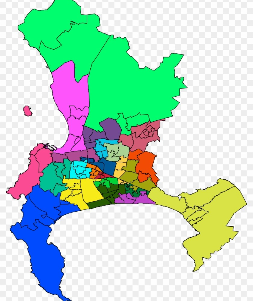 Map To Show The Southern Peninsula and other suburbs of Cape Town