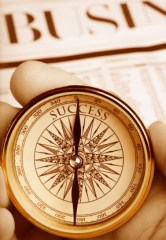 Compass Pointing the Way to Success