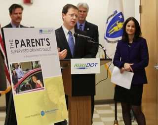 MassDOT Sec. Davey and RMV Registrar Kaprielian announced the New Free Driving Guide for Mass Teens