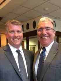 Present Commissioner Dan Judson with former Commissioner Joseph Murphy.