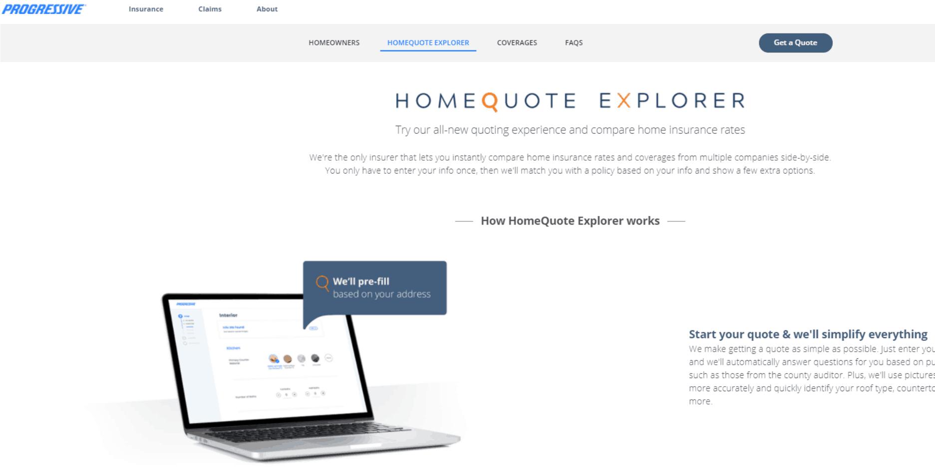 Progressive Get A Quote Progressive Launches Homequote Explorer Featuring Multicarrier