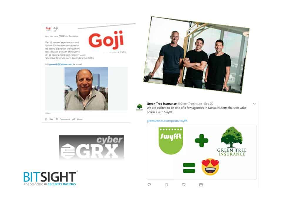 "MA Insurtech Update: Goji Rumors True, TrueMotion, BitSight, Green Tree + Swyfft & A Tale Of Two ""Z""s"