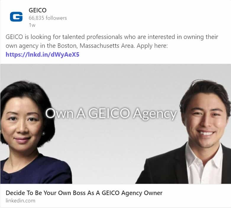 If You Can't Beat 'Em, Join 'Em? GEICO Hiring Local Agents In Massachusetts
