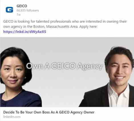 Agency Checklists, MA Insurance News, Mass. Insurance News, GEICO, GEICO Hiring Agents in Mass, GEICO insurance agencies