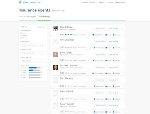 Ratings & Reviews for Insurance Agents in Massachusetts