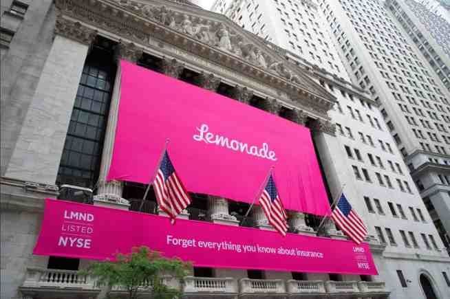 Lemonade Insurance Goes Public