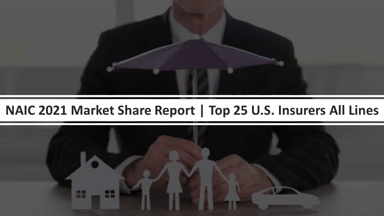 NAIC 2021 Market Share Report | Top 25 P&C Insurers All Lines
