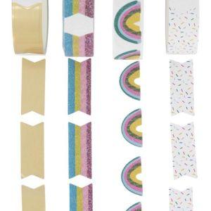 HEMA Washi Tapes Met Stickers - 4 Stuks