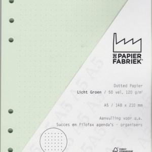 Agenda Vulling A5 Dotted, 6 Rings, Licht Groen (1 st) [BOP-A5DG]