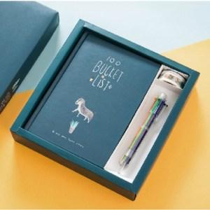 Planner Agenda planner notebook briefpapier cadeau met pen & stickers (groen)