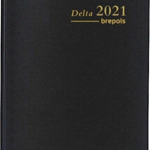 Brepols agenda Delta Seta 6-talig, 2021, zwart