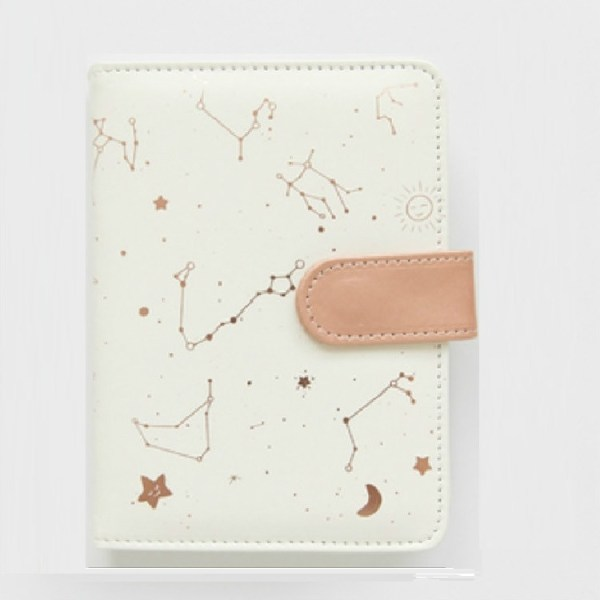 2453 Creative Constellation Schedule Planner Notebook Kawaii Scrapbook Soft Cover Diary Notebooks Office School Supplies(White)