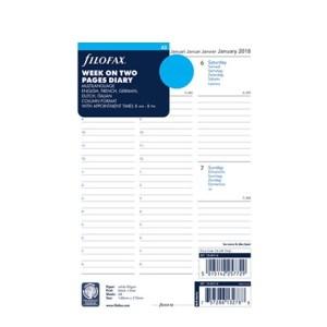 Filofax jaarinhoud 2021 - a5 (week, meertalig, wit, kolommen)