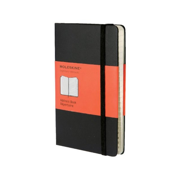 Adresboek Moleskine pocket 90x140mm zwart