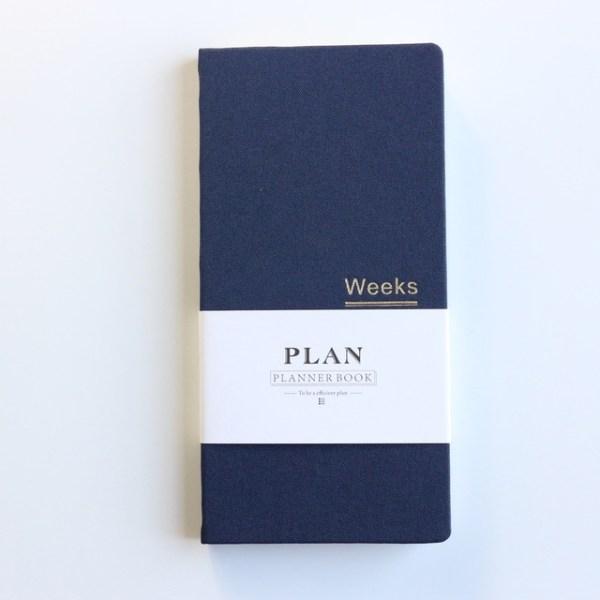 Klassieke hardcover Office school per planner notebooks briefpapier persoonlijke agenda planner organisator grootte: A6 18.9 x 9.4 cm (blauw)