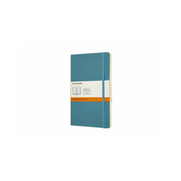 Notitieboek Moleskine L 130x210mm lijn reef blue