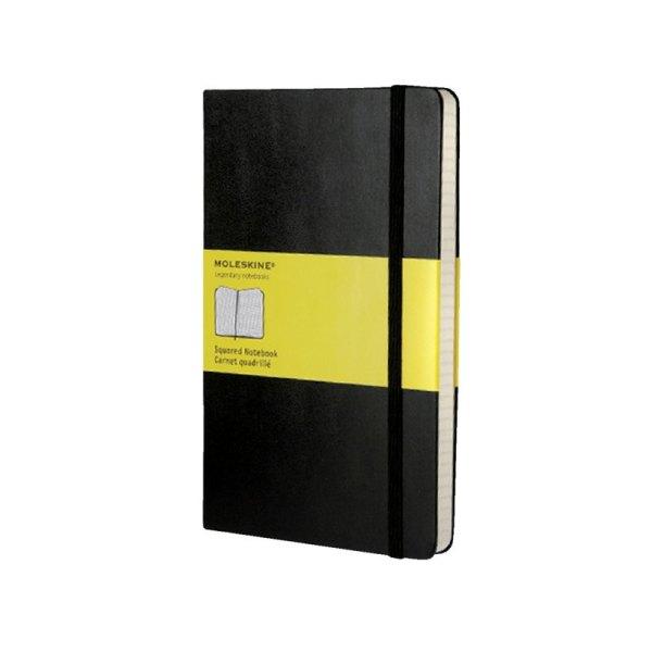 Notitieboek Moleskine large 130x210mm ruit zwart