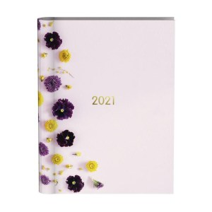 Agenda 2021 wire-o flowers pink