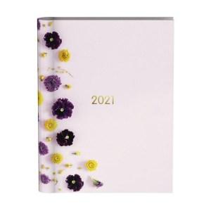 Agenda 2021 wire-o flowers pink