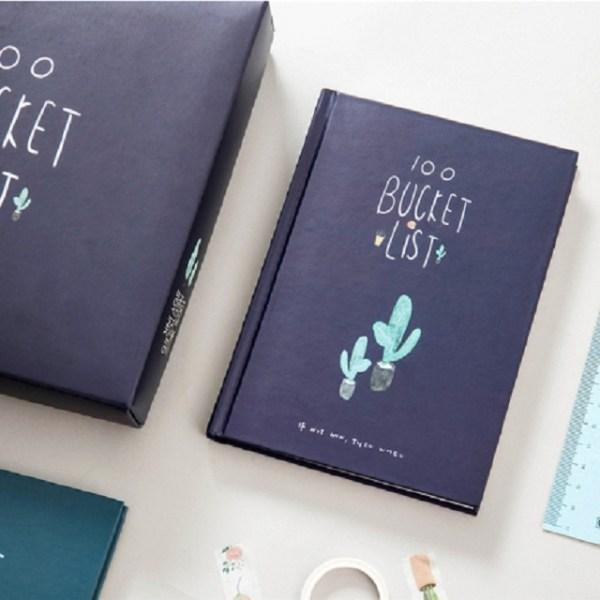 Planner Agenda planner notebook briefpapier cadeau met pen & stickers (marineblauw)