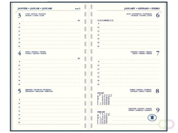 Agenda 2021 Ryam memoplan 7 staand Suprema zwart