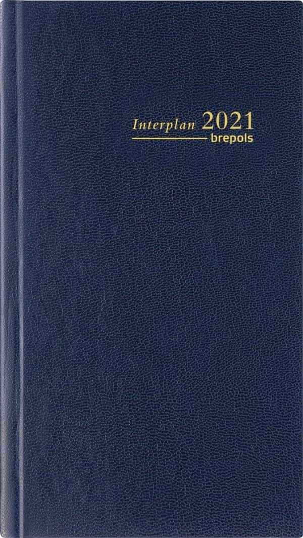 Brepols agenda Interplan Lima, blauw, 2022