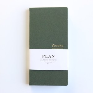 Klassieke hardcover Office school per planner notebooks briefpapier persoonlijke agenda planner organisator grootte: A6 18.9 x 9.4 cm (olijf groen)