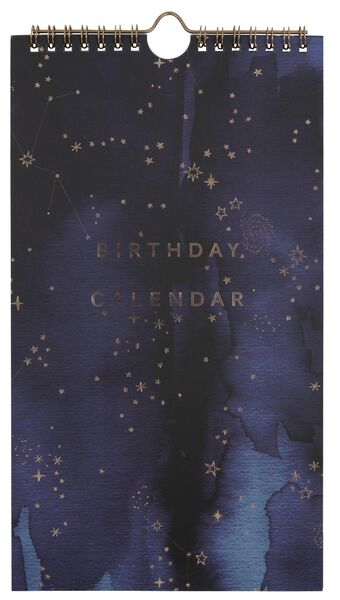 HEMA Verjaardagskalender 28x16 Spiraal Sterren