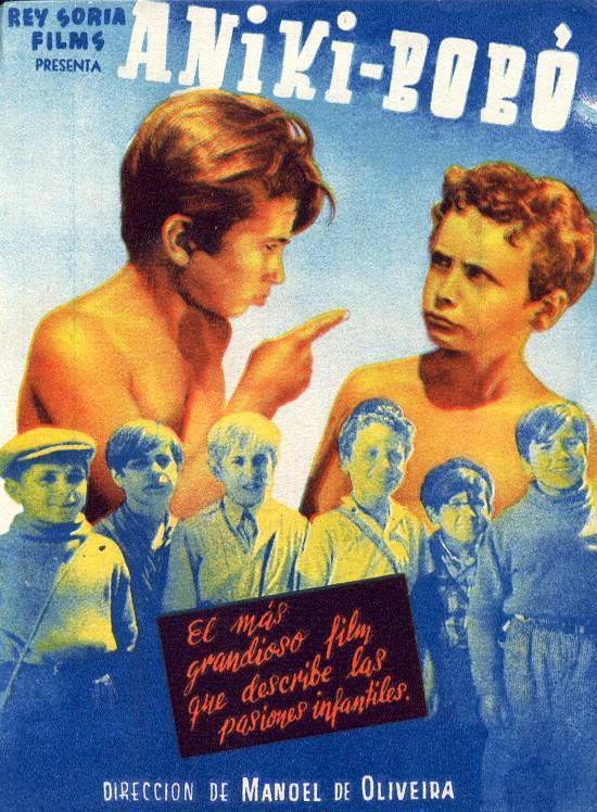 Cartaz espanhol do Aniki-Bobó, filme de Manoel de Oliveira, de 1942.