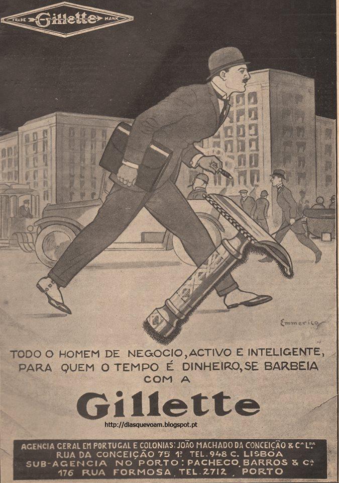 Gillette década de 1920.