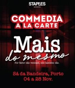 Comedia a la carte no Teatro Sá da Bandeira