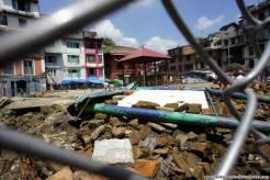 Quello che rimane di uno dei templi più grandi di Kathmandu dopo il terremoto. Non verrà mai più ricostruito