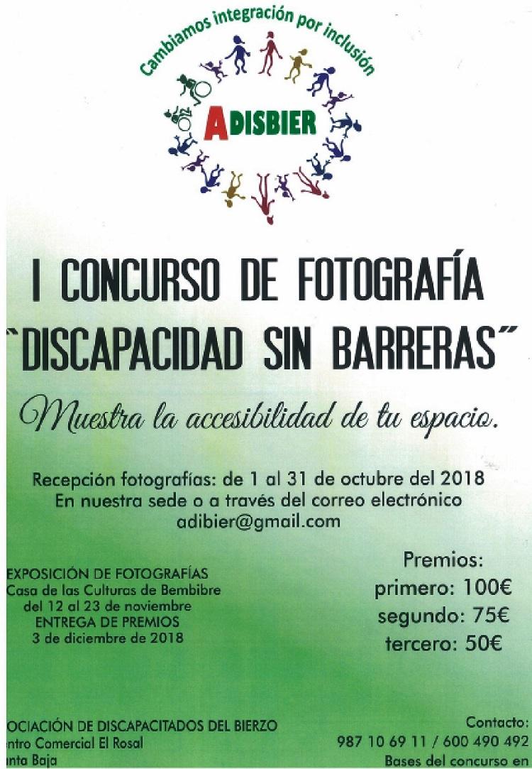 Concurso de fotografía discapacidad sin barreras bembibre