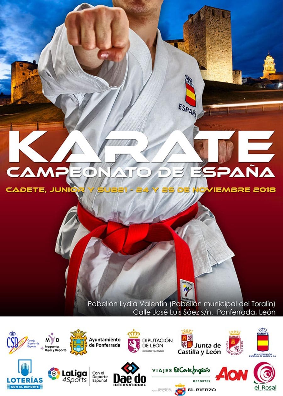 campeonato de espana de karate categorias cadete junior y sub21 en ponferrada el bierzo