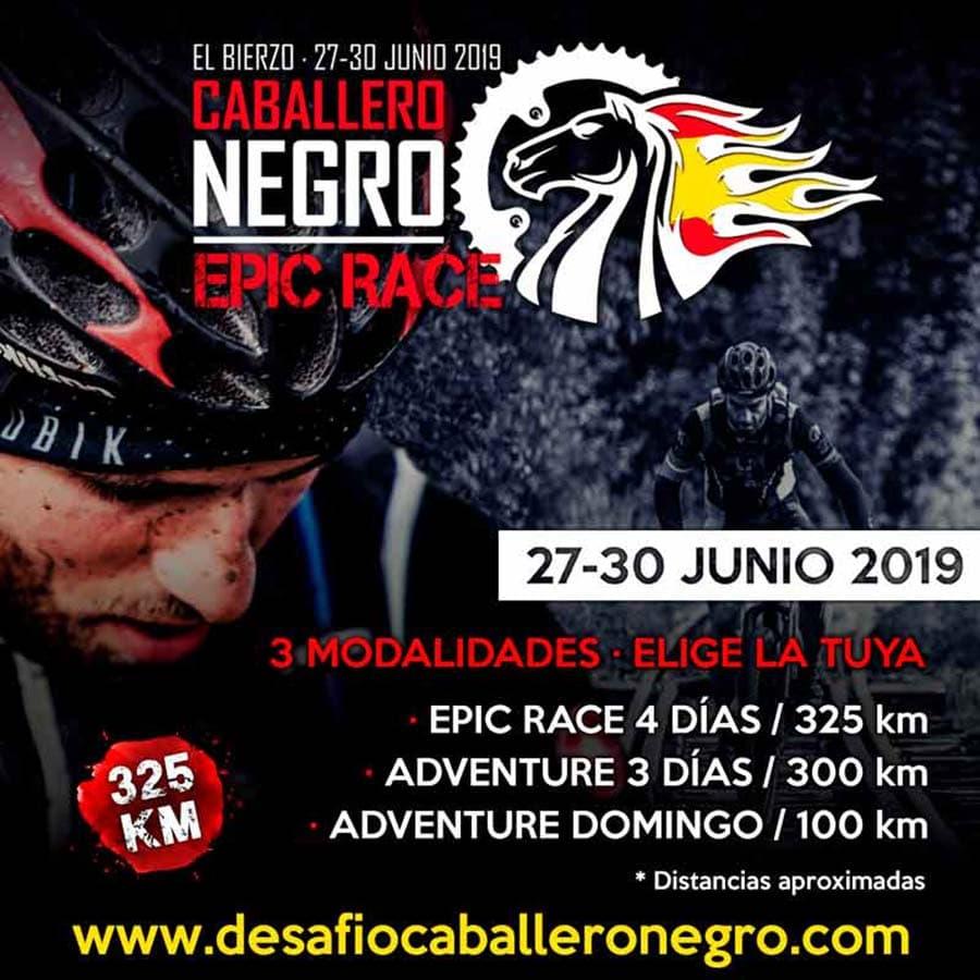 cartel caballero negro epic race toreno el bierzo