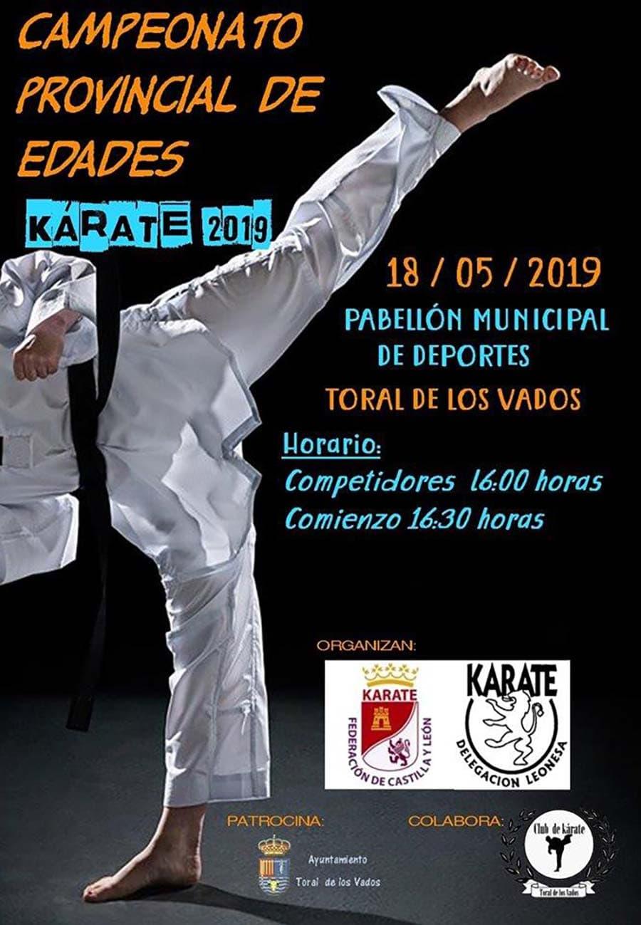 cartel campeonato provincial edades karate toral vados el bierzo