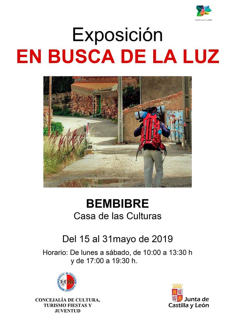 cartel expo en busca de la luz casa culturas bembibre el bierzo