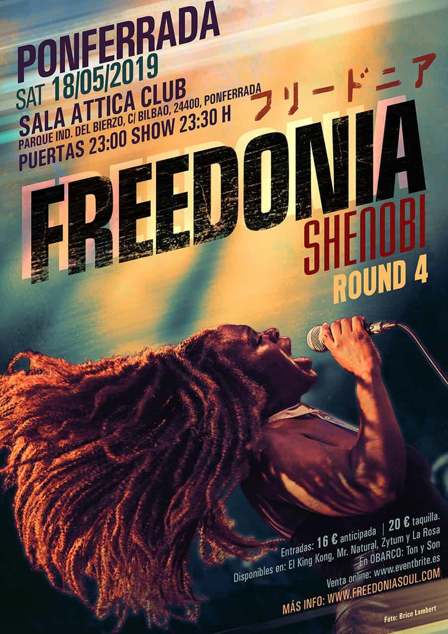 cartel concierto freedonia attica ponferrada el bierzo