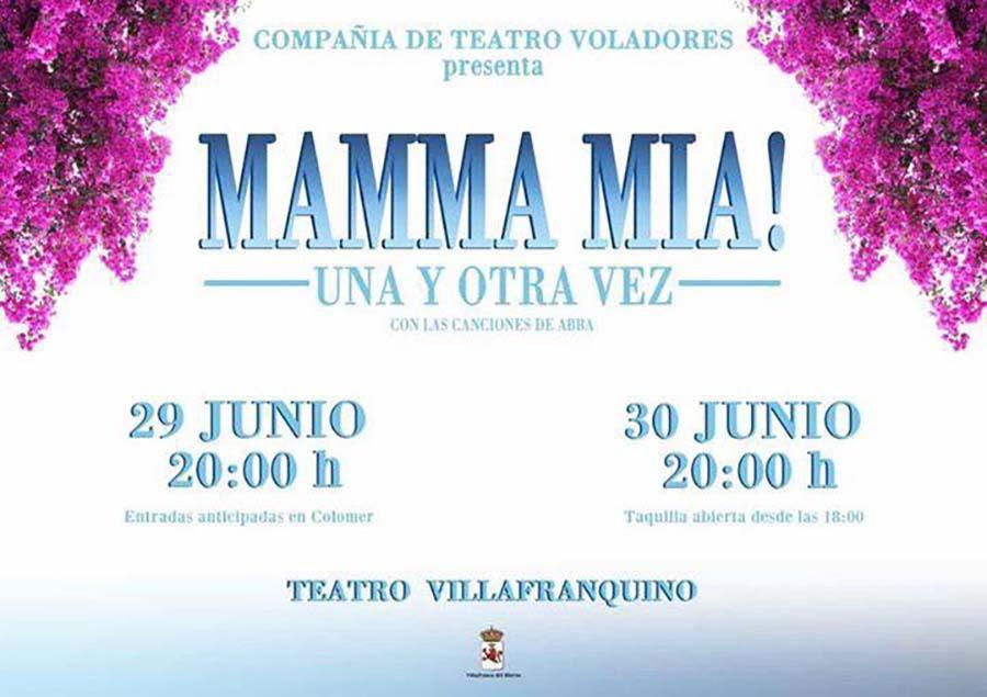 cartel musical mamma mia villafranquino villafranca el bierzo