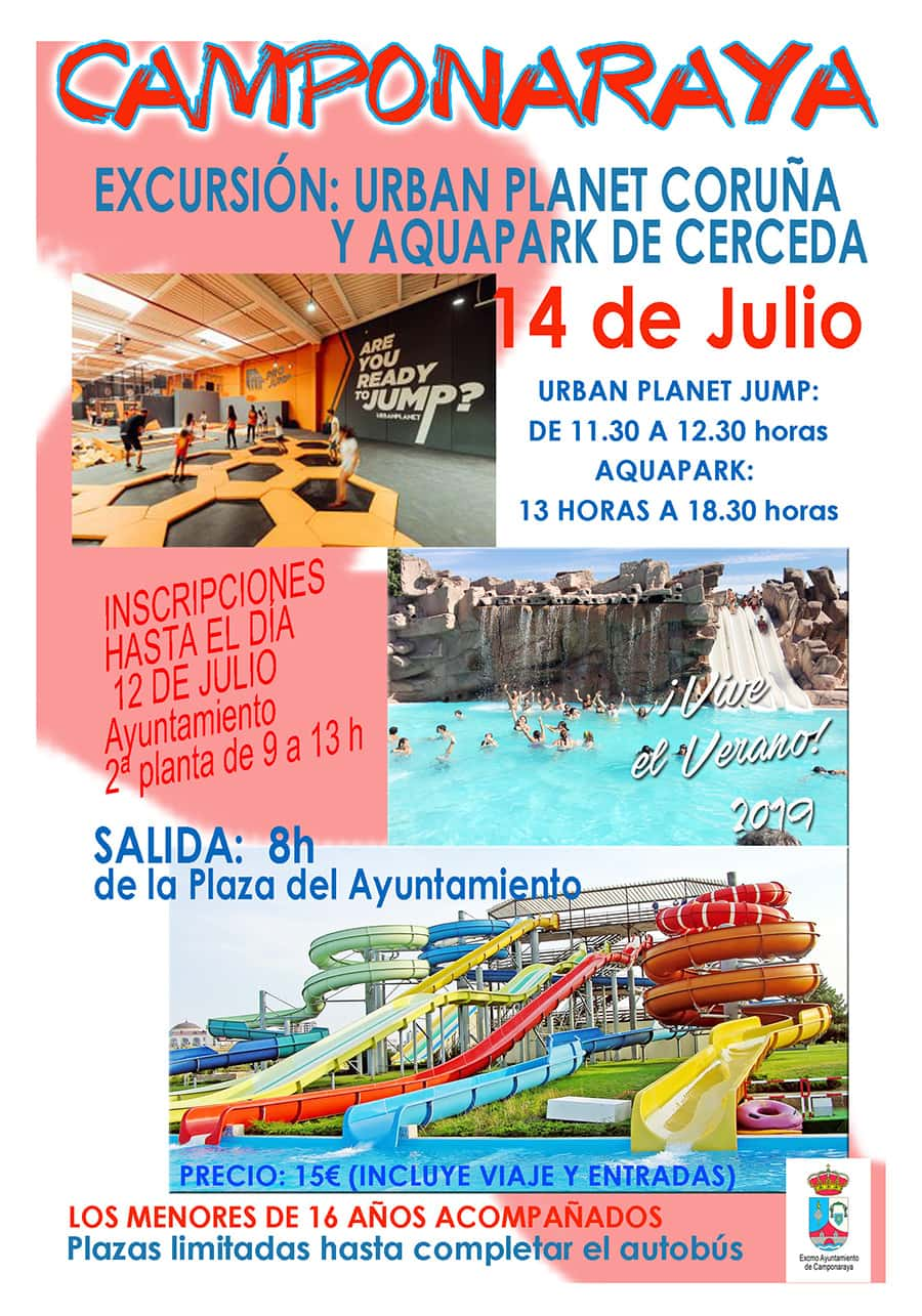 cartel excursion aquapark cerceda camponaraya el bierzo