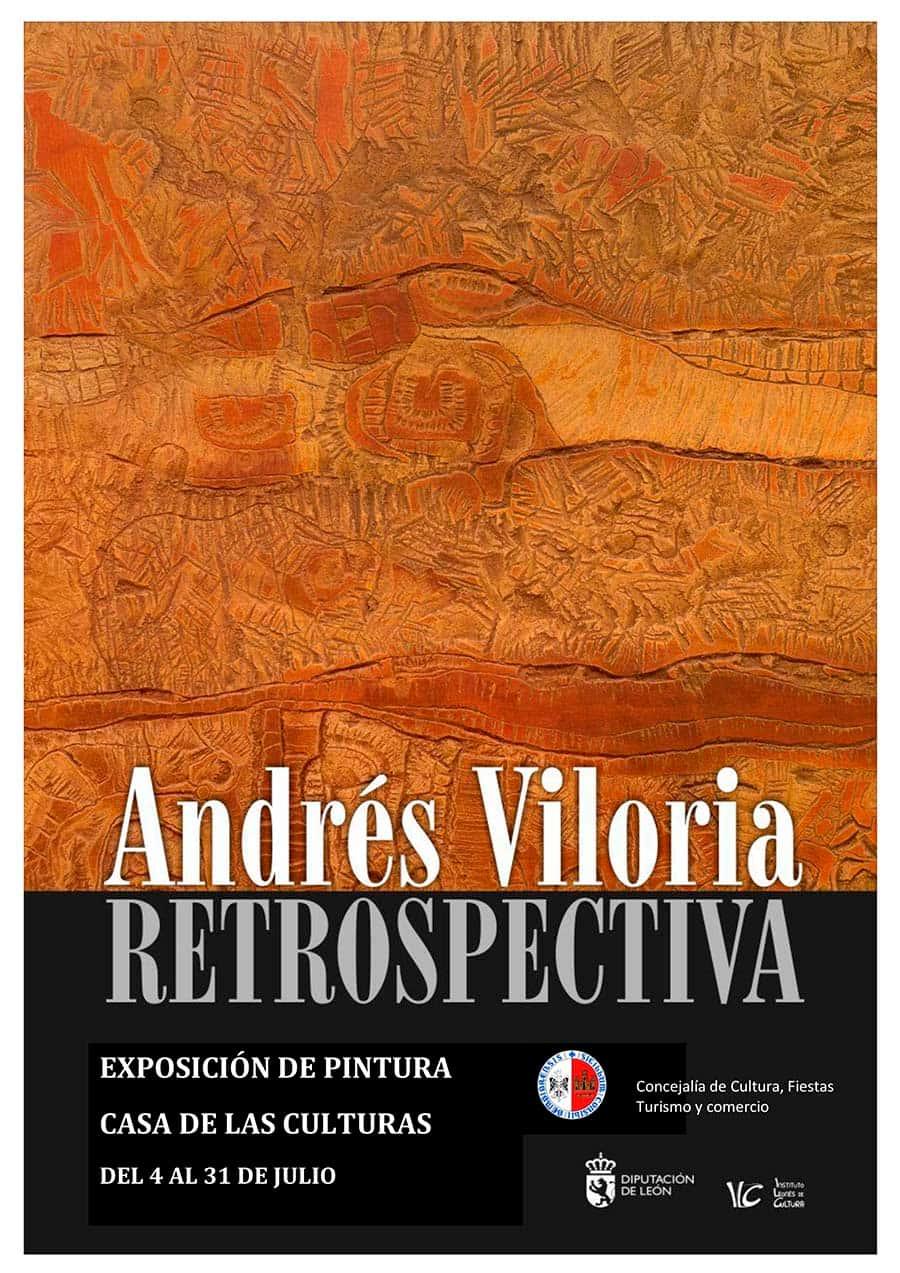 cartel exposicion retrospectiva andres viloria bembibre el bierzo
