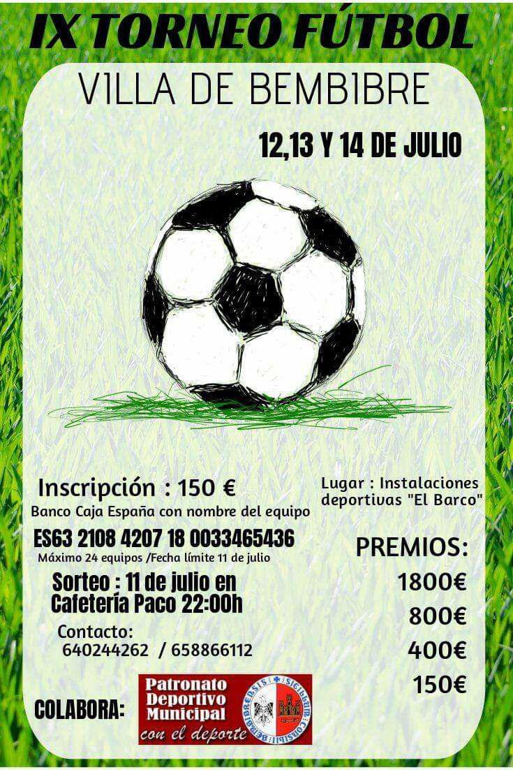 cartel ixtorneo futbol7 bembibre el bierzo